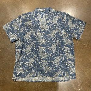 VTG Polo Ralph Lauren Mens XL Hawaiian Linen Shirt